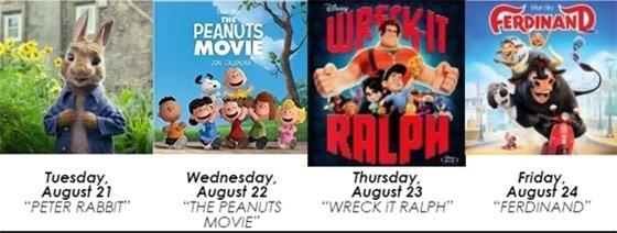 FREE Summer Week Long Movies!