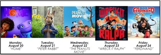 FREE Summer Week Long Movies!