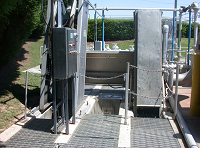 Operational bar screens removing debris from wastewater
