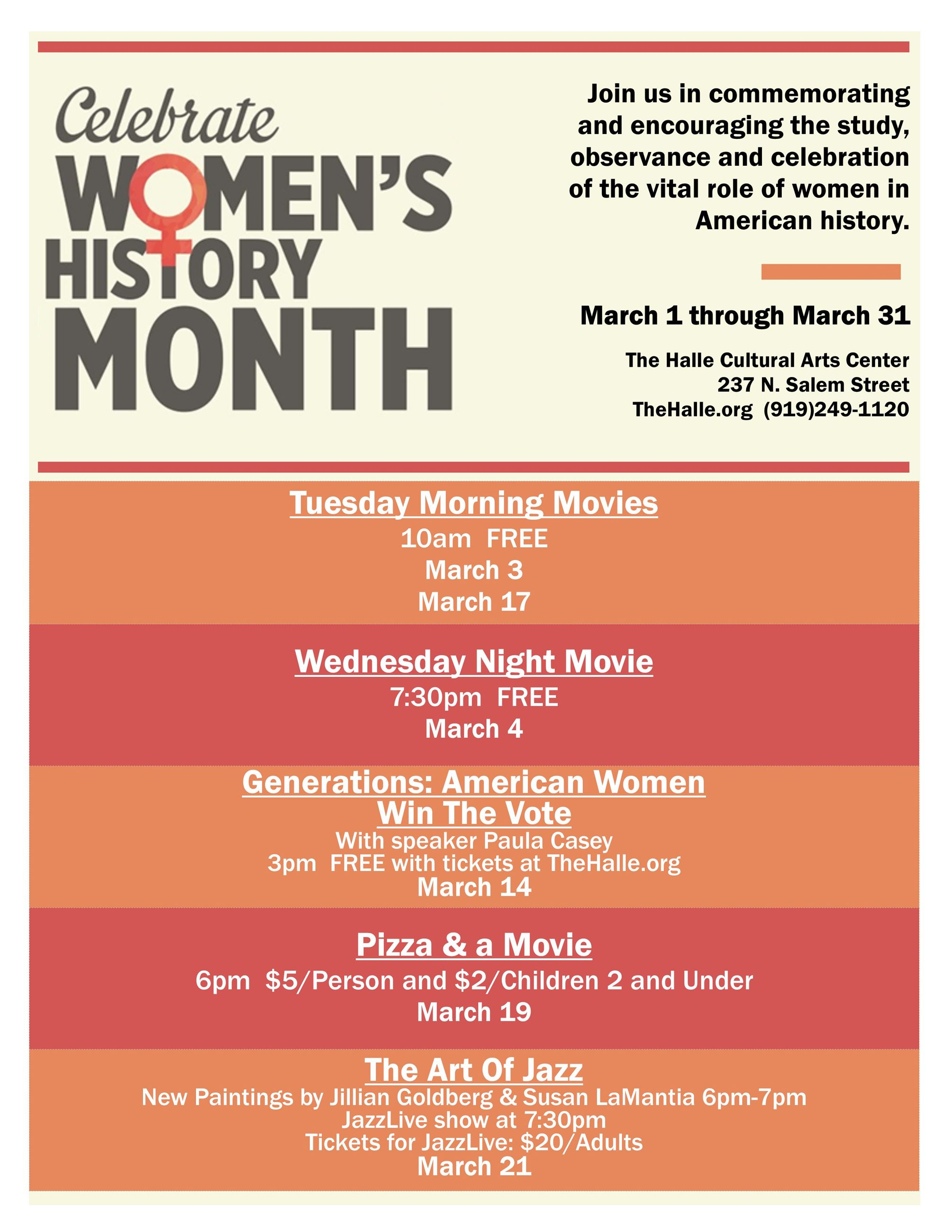 Womens History Month FLYER ..no images or titles..