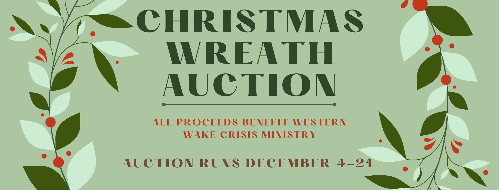 2020 Christmas Wreath Auction FB